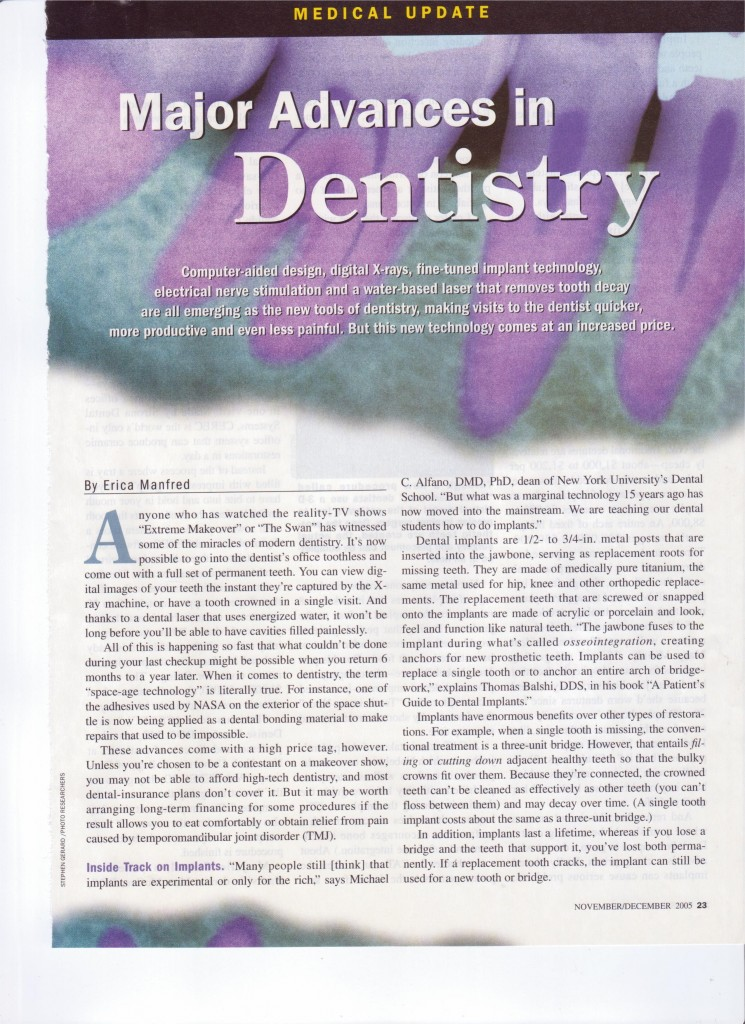 Major Advances In Dentistry